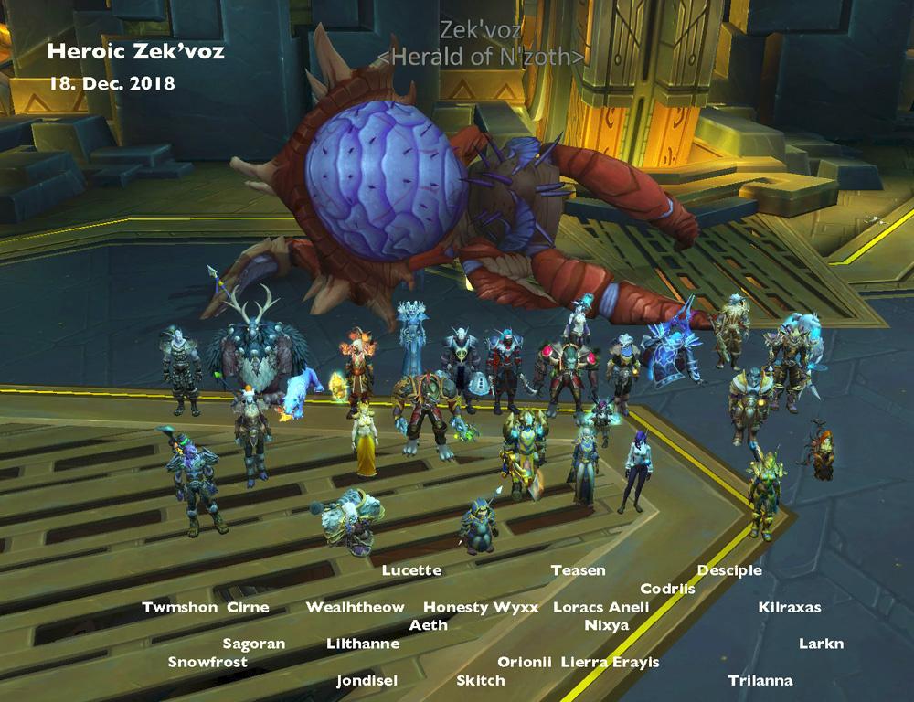 Heroic Zek'voz kill shot