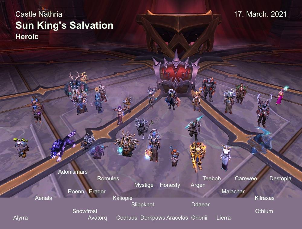 Heroic Sun King kill shot